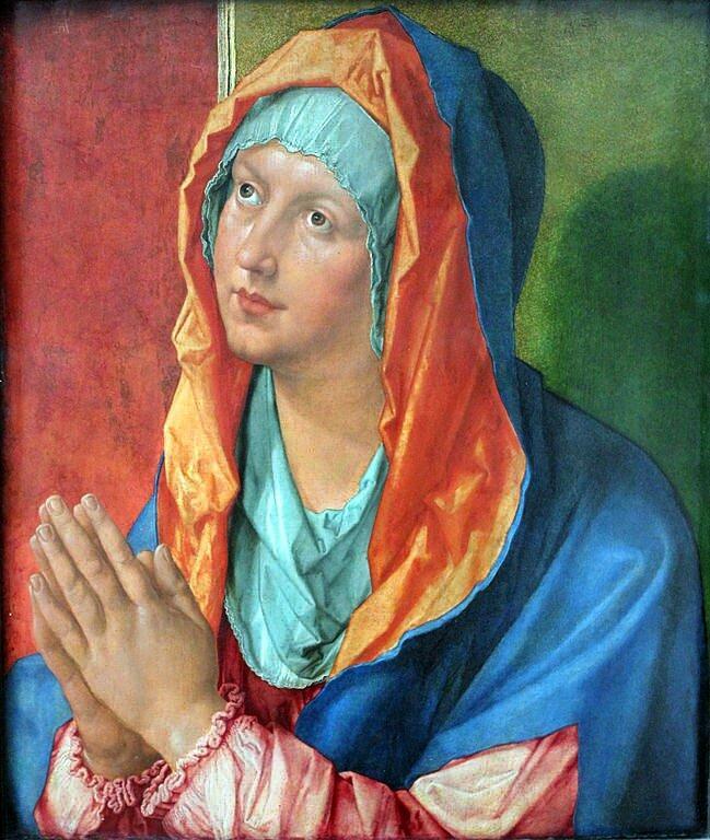Albrecht Dürer, Betende Maria, Staatliche Mussen Berlin (Bild: Wikimedia Commons, anagoria)