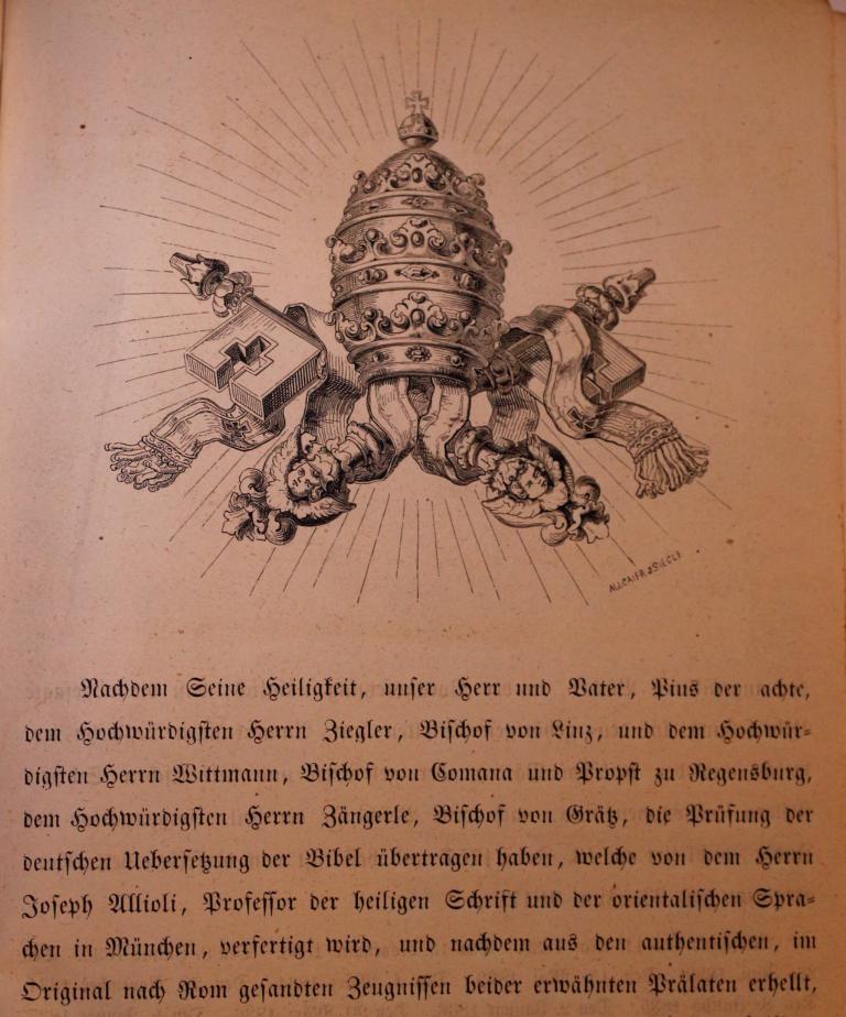 Allioli 1851, Approbation, S. 1 (eigenes Bild)