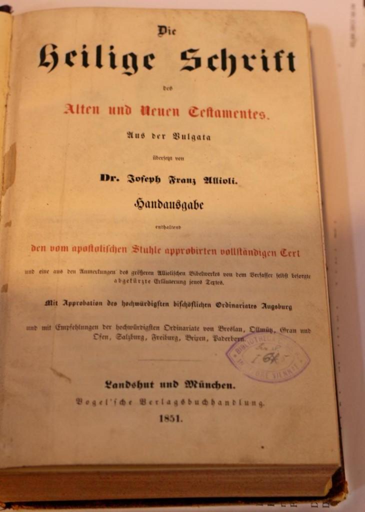 Allioli 1851, Frontispiz (eigenes Bild)