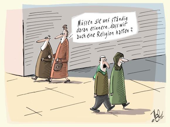 """""""Müssen sie uns erinnern"""" (mit freundl. Genehmigung von I. Cozacu, NEL-Cartoons)"""