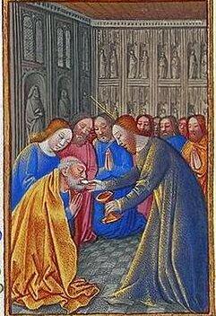 Apostelkommunion, Stundenbuch des Herzogs von Berry (Bild: Wikimedia Commons)