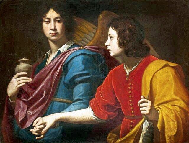 Der Erzengel Raphael mit Tobias, Lorenzo Lippi, ca. 1640-50, Nationalmuseum Warschau (Bild: Wikimedia Commons)