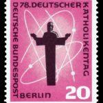 Briefmarke zum 78. Katholikentag 1858 in Berlin (Bild Wikimedia commons, NobbiP)